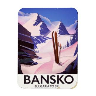 Ímã Bansko Bulgária a esquiar