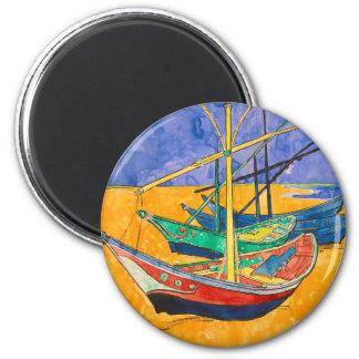 Imã Barcos de Vincent van Gogh impressionista