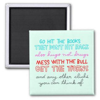 Imã bata os livros -- não batem para trás