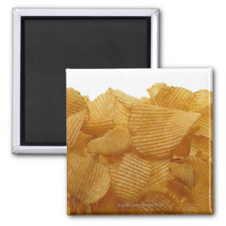 Imã Batatas fritas de batata no fundo branco, imagem