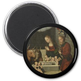 Imã Bebê adorador Jesus dos pastores por Cranach