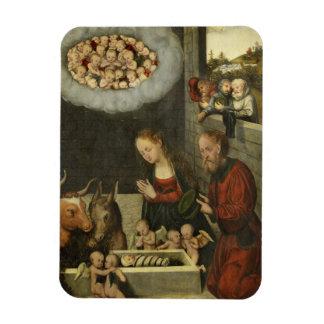 Ímã Bebê adorador Jesus dos pastores por Cranach