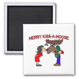 Imã Beijo alegre um alce