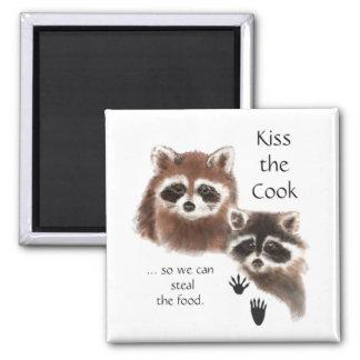 Imã Beijo engraçado das citações os guaxinins bonitos