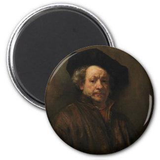Imã Belas artes do retrato de auto de Rembrandt Van