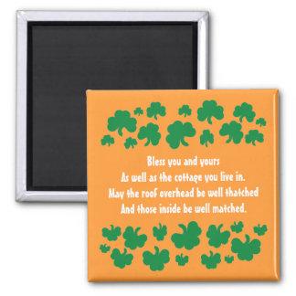 Imã Bênção irlandesa com trevos