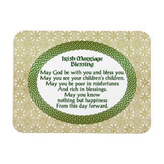 Ímã Bênção irlandesa do casamento, ouro & casamento