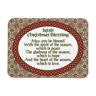 Ímã Bênção irlandesa do Natal, feriado celta verde
