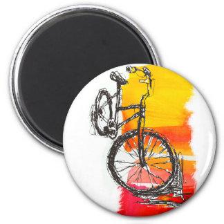 Imã Bicicleta vermelha colorida