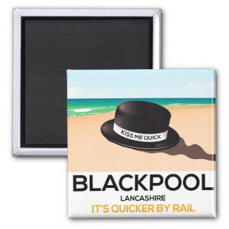 """Imã Blackpool """"beija-me rapidamente"""" poster do trem do"""
