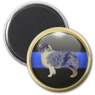 Imã Blue Line fino eu sou um Sheepdog