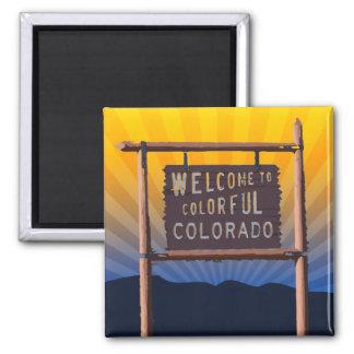 Imã boa vinda a Colorado colorido