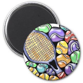 Imã Bola de tênis e ímã da raquete