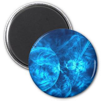 Imã bolhas azuis