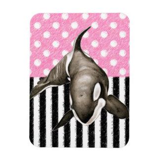 Ímã Bolinhas do rosa da baleia da orca