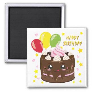 Imã Bolo de chocolate do feliz aniversario, kawaii