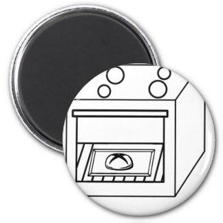 Imã bolo no forno, bebê engraçado na mamã grávida da