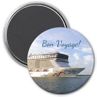 Imã Bon voyage decorado do arco do navio de cruzeiros
