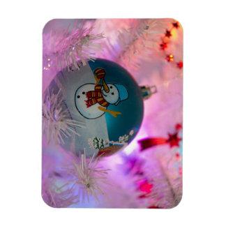Ímã Boneco de neve - bolas do Natal - Feliz Natal