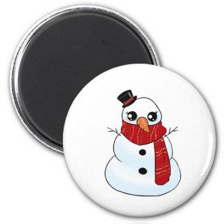 Imã Boneco de neve de Kawaii