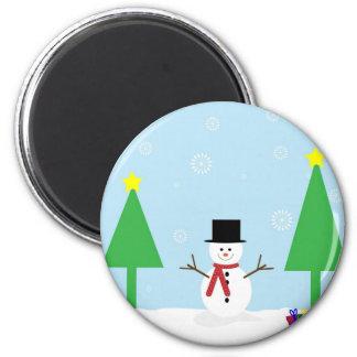 Imã Boneco de neve do Natal