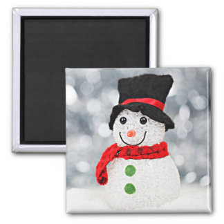 Imã Boneco de neve do país das maravilhas do inverno
