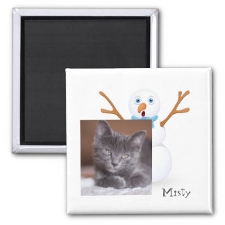 Imã Boneco de neve e gatinho customizável