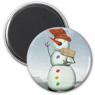 Imã Boneco de neve encadernado do Pólo Norte