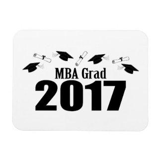 Ímã Bonés do formando 2017 de MBA e diplomas (preto)