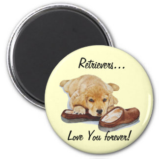ímã bonito da arte do cão de labrador retriever do ímã redondo 5.08cm
