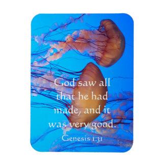 Ímã bonito do verso da bíblia das medusa