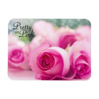 Ímã Bonito em rosas cor-de-rosa
