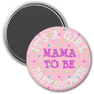 Imã Botão do chá de fraldas, Mama a ser pontos roxos