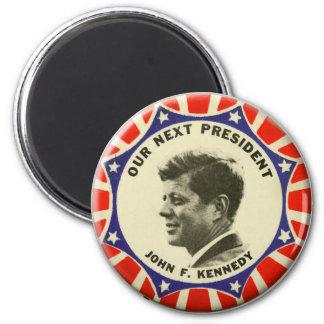 Imã Botão do vintage JFK John Kennedy nosso presidente