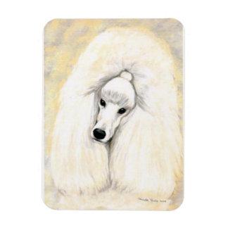 Ímã branco da arte do cão de caniche
