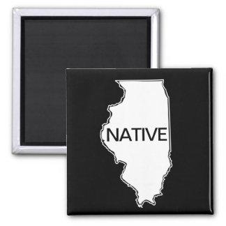 Imã Branco preto nativo de Illinois
