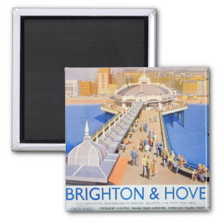 Imã Brigghton & levantou o vintage Railway do poster