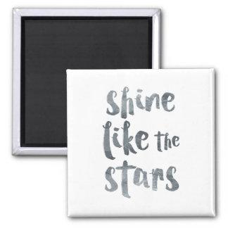 Imã Brilho como as estrelas - Motivationa metálico de