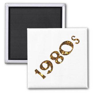 Imã brilho do ouro da nostalgia dos anos 80