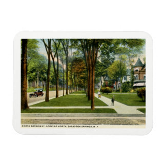 Ímã Broadway norte, Saratoga Springs, vintage de NY