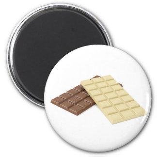 Imã Brown e bares de chocolate brancos