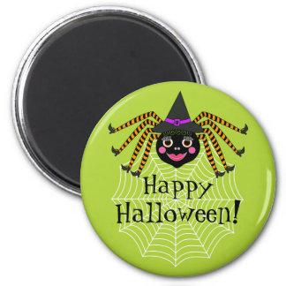 Imã Bruxa o Dia das Bruxas feliz da aranha