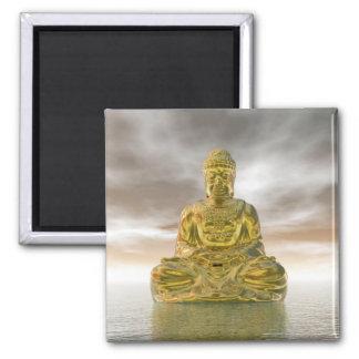 Imã Buddha dourado - 3D rendem