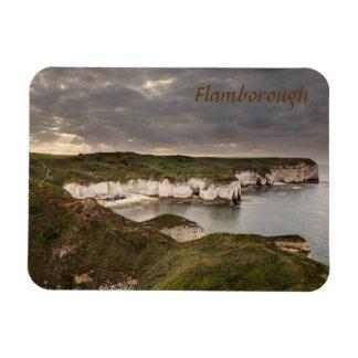 Ímã Cabeça de Flamborough e foto da lembrança da baía
