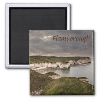 Imã Cabeça de Flamborough e foto da lembrança da baía