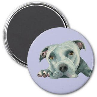 Imã Cabeça grande de Ol - pintura da aguarela do cão