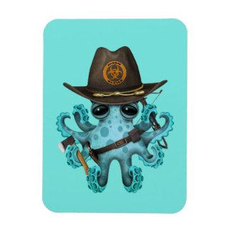Ímã Caçador do zombi do polvo do bebê azul