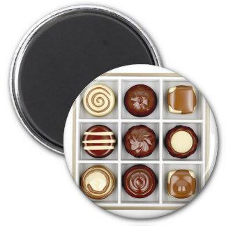 Imã Caixa com doces de chocolate