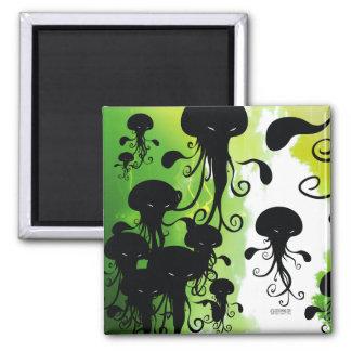 Imã calamar assustador das medusa do ímã dos kwubos
