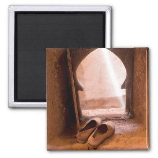 Imã Calçados marroquinos na janela